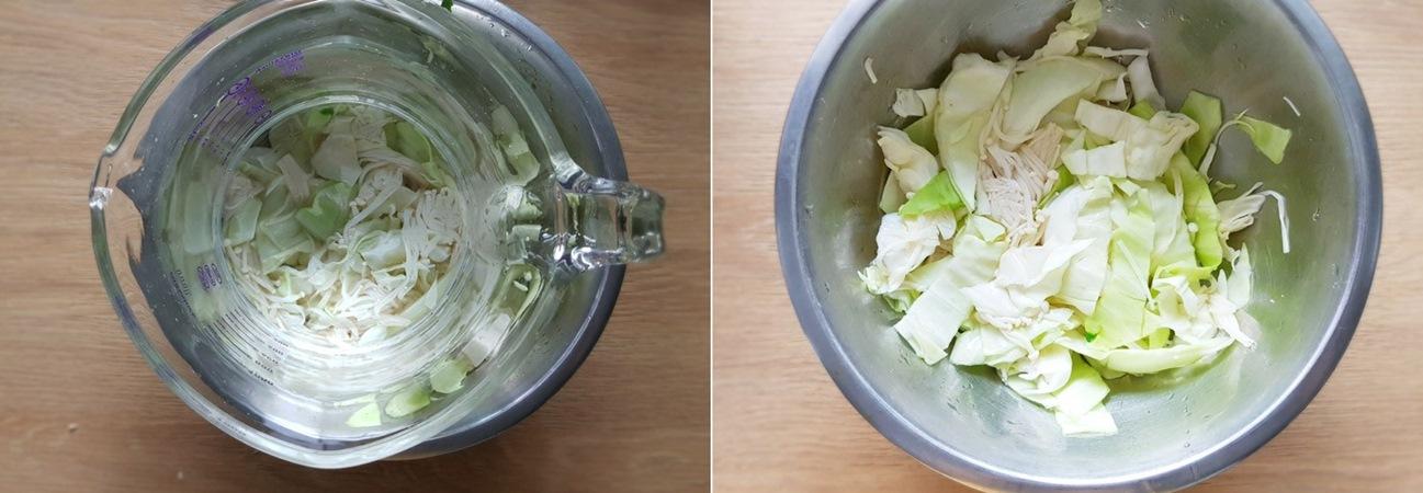 Ép nước cải bắp