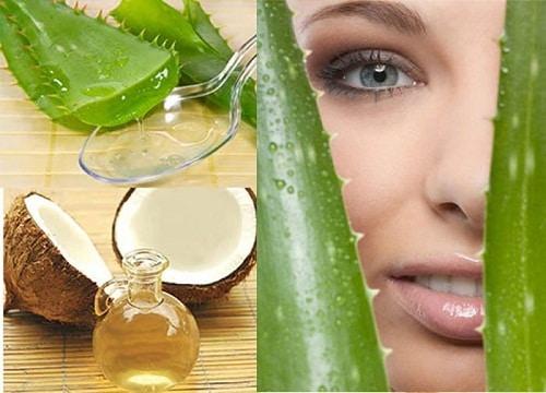 Làm đẹp da đơn giản hiệu quả tại nhà bằng mặt nạ nha đam dầu dừa