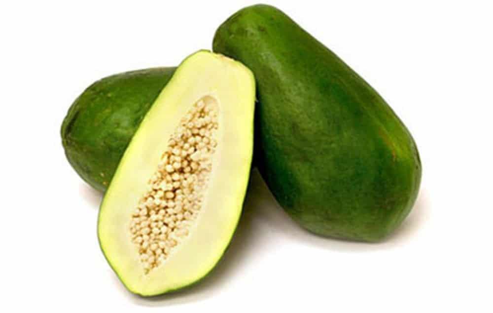 Không nên ăn đu đủ xanh trong 3 tháng đầu.