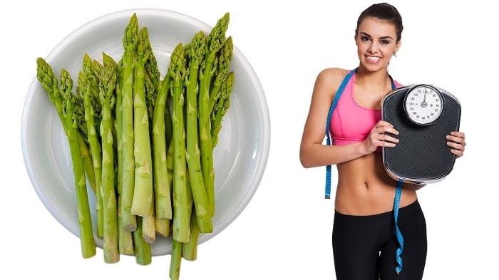 Măng tây giúp giảm cân