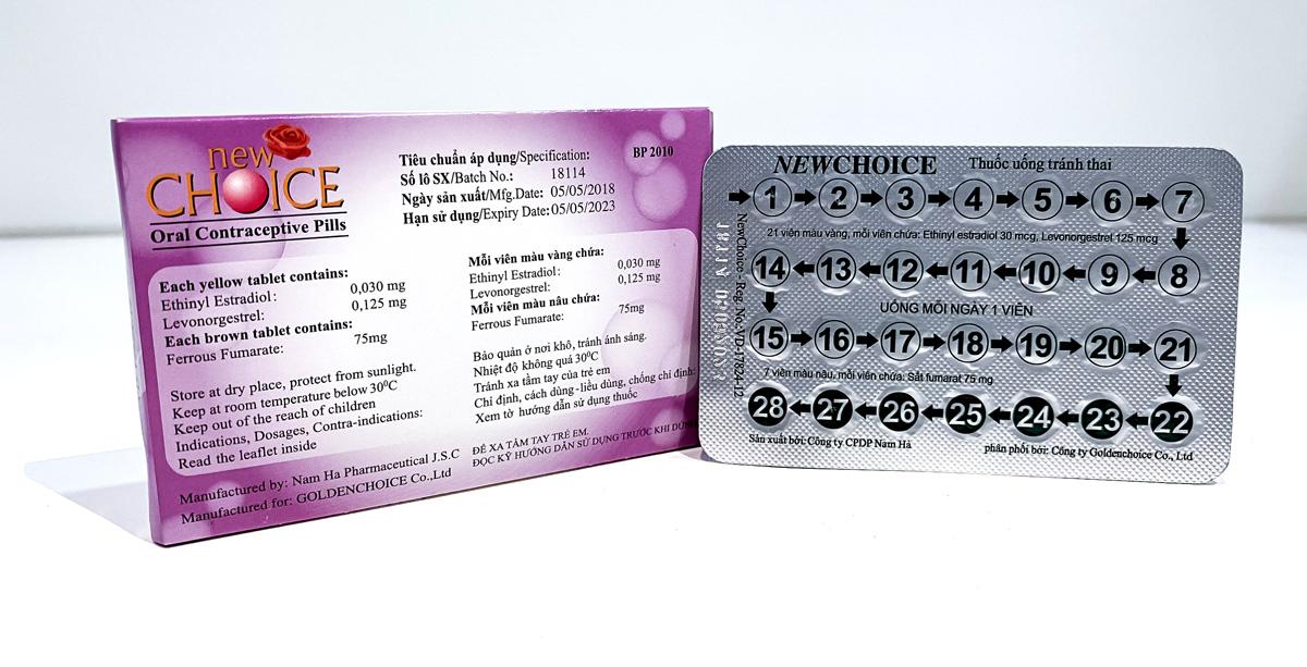 Thuốc tránh thai hàng ngày New Choice
