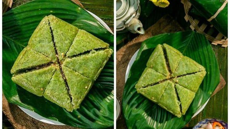 Bánh chưng xanh món ăn truyền thống ở miền Bắc