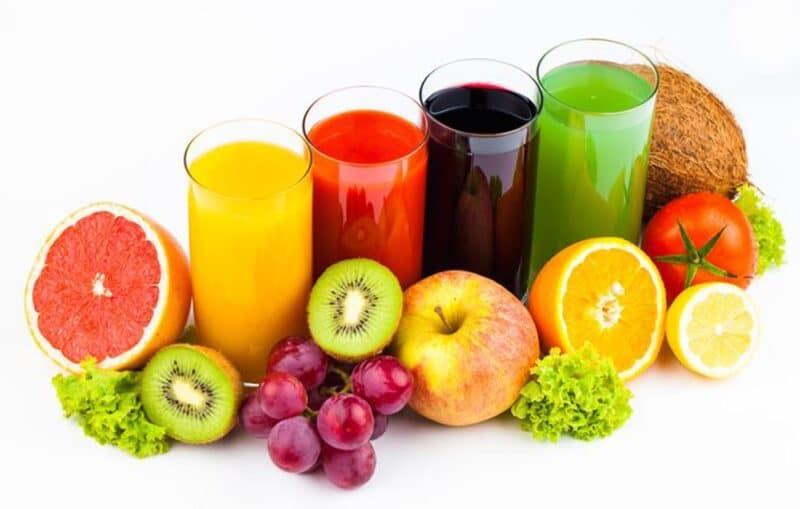Hàm lượng trong nước ép trái cây nguyên chất khá thấp