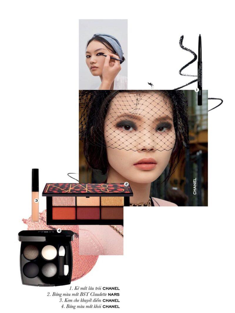 Sàn diễn Dior Xuân – Hè 2021 chứng kiến phong cách trang điểm với liner dày, sắc sảo