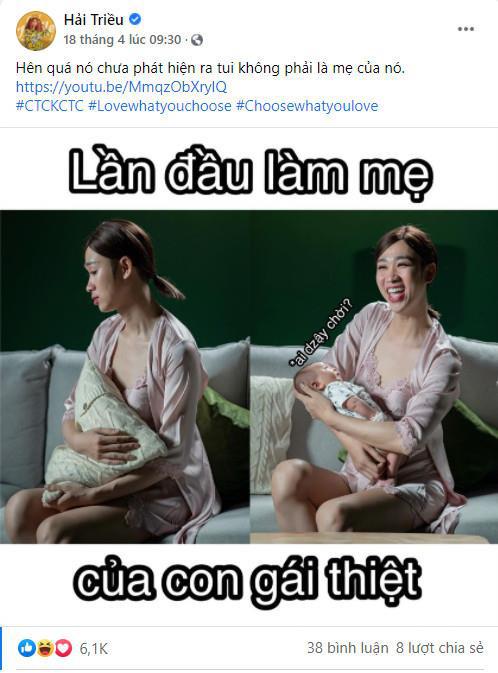 """Hải Triều khó khăn trong việc bế em bé trong hậu trường MV """"Chịu thì chịu không chịu thì chịu"""""""